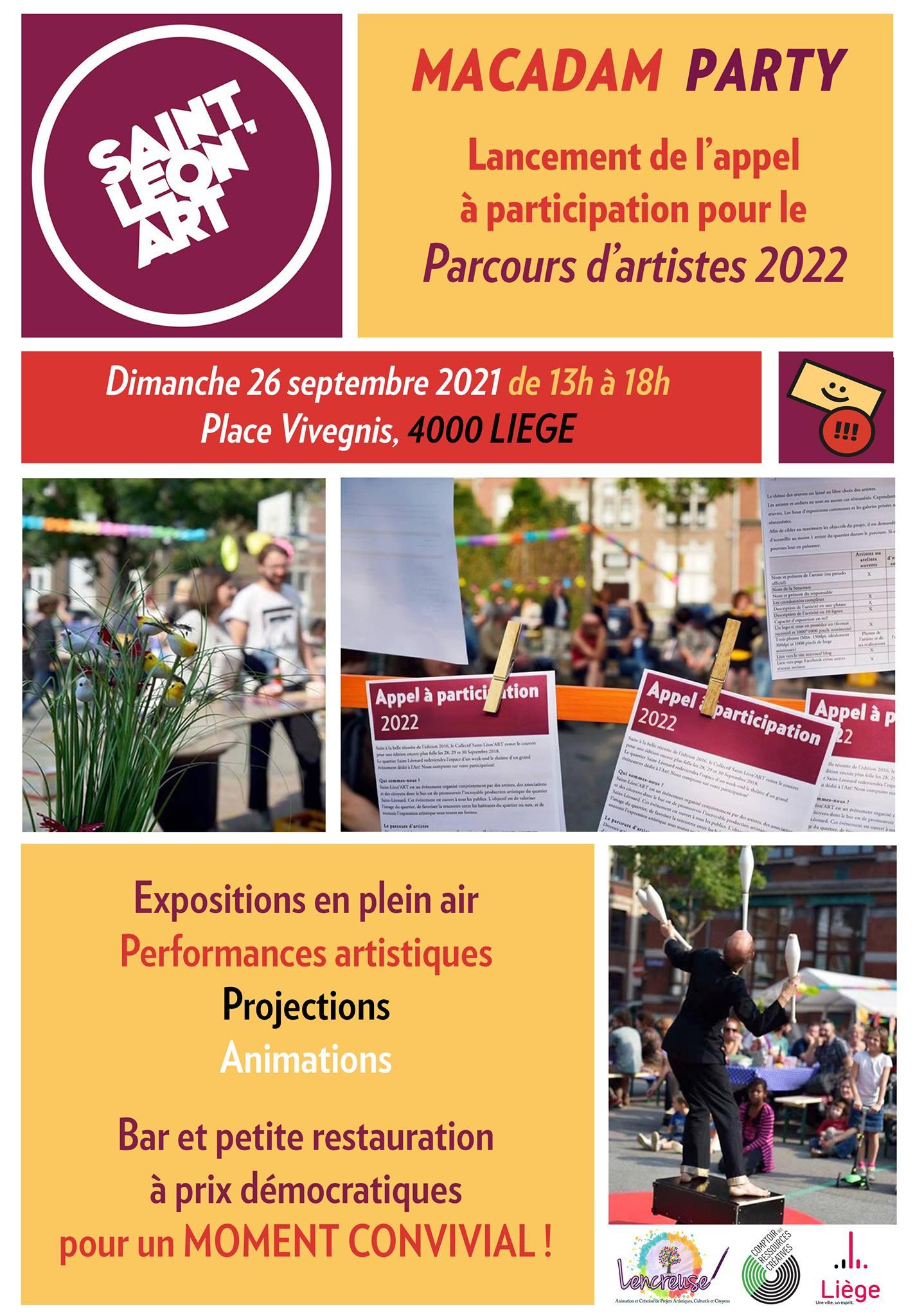 Macadam Party & Lancement de l'appel à candidatures 2022