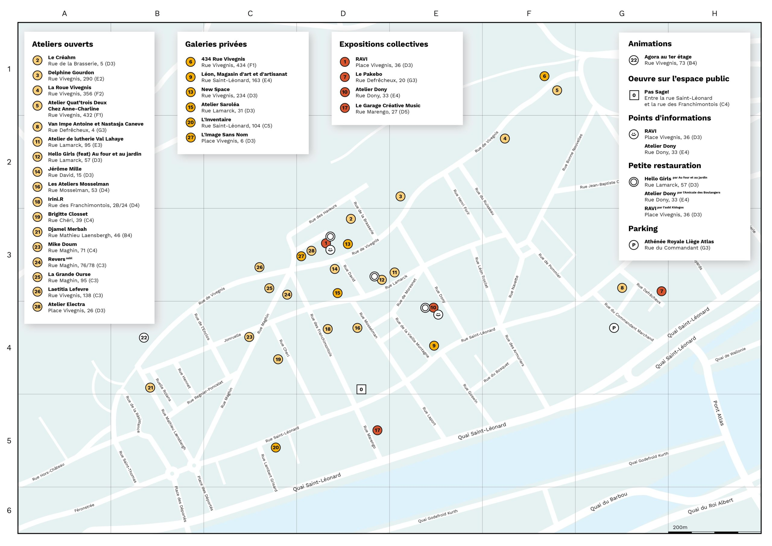 Carte du quartier Saint-Léonard